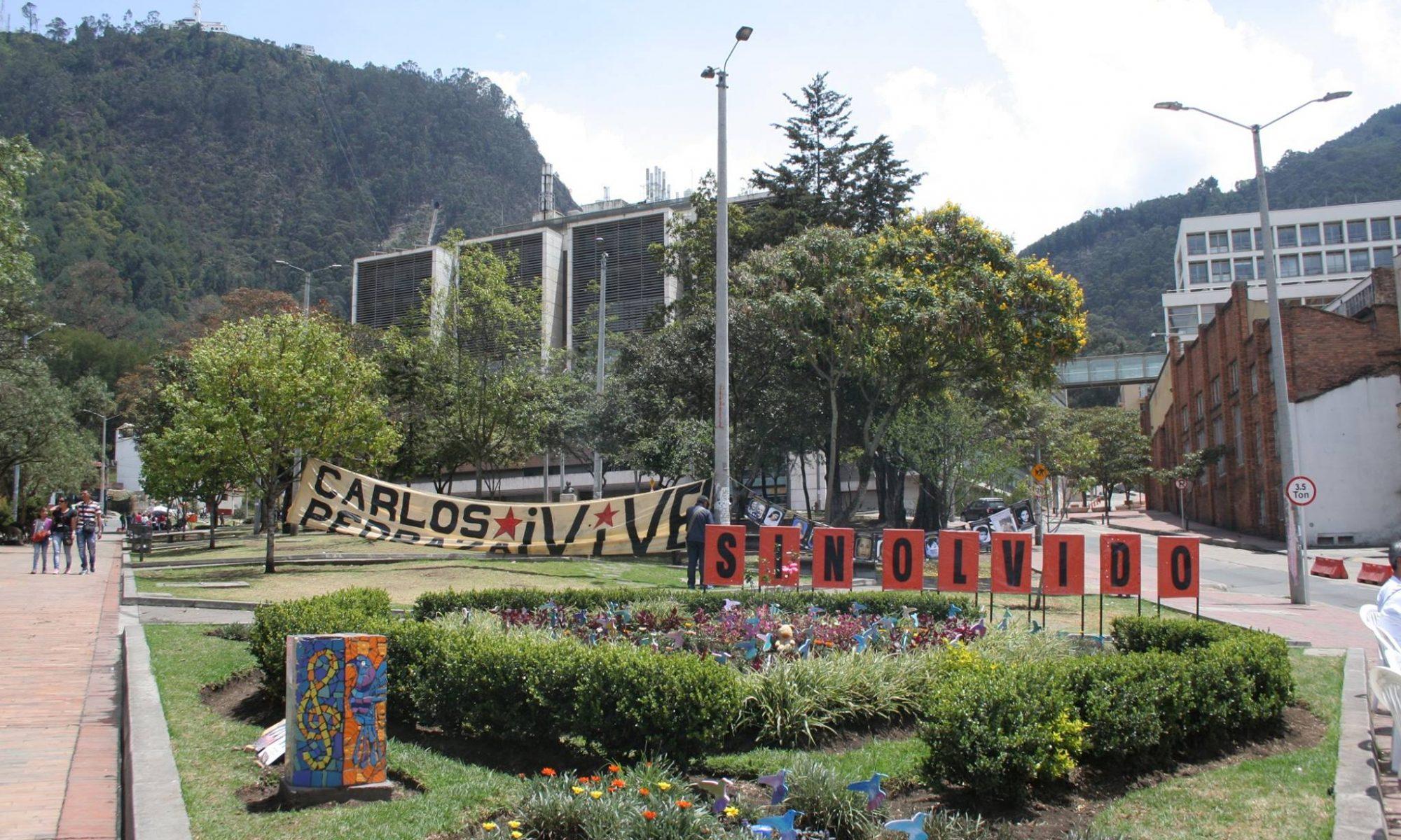 El jardín en homenaje a Sandra Catalina y otras niñas asesinadas. Foto: Archivo personal