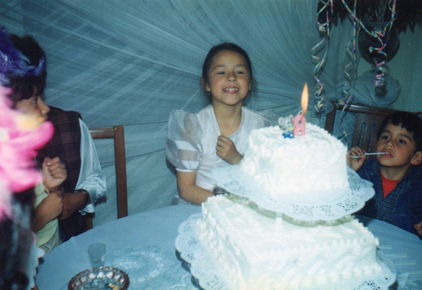 Catalina celebrando su fiesta de 8 años - Foto: Archivo familiar